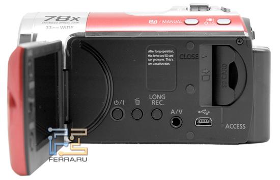 Органы управления Panasonic SDR-S50