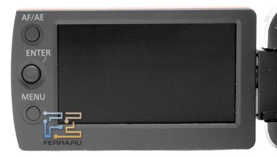 Элементы управления Panasonic SDR-S50 на рамке экрана