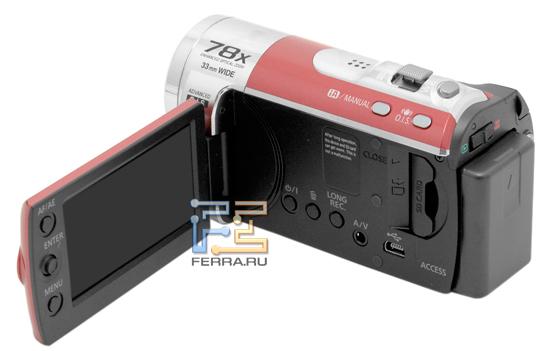 Panasonic SDR-S50, внешность сбоку