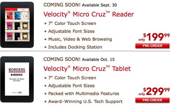 Velocity Cruz Reader � Tablet