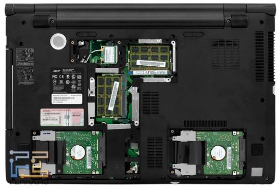 Внутренняя компоновка Acer Aspire 8943G