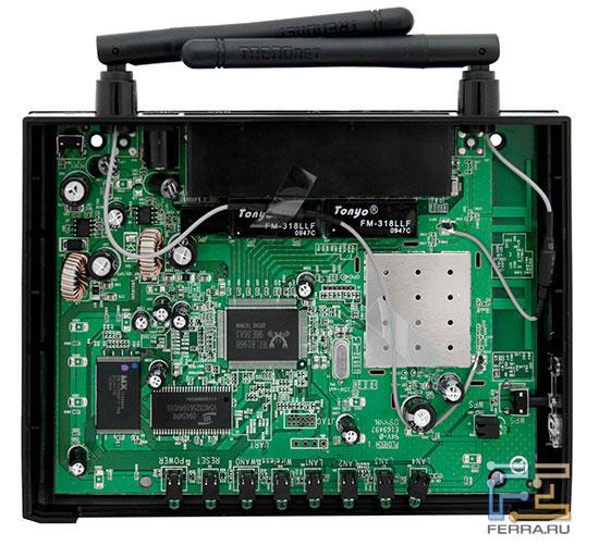 У TEW-652BRP каждая антенна подключена по своему тракту