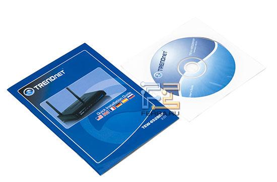 Инструкции к TRENDNet TEW-652BRP продублированы на компакт-диске в электронном виде