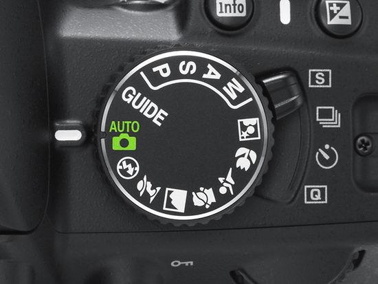 Nikon D3100 - барабан переключения режимов съемки