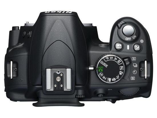 Nikon D3100 - вид сверху