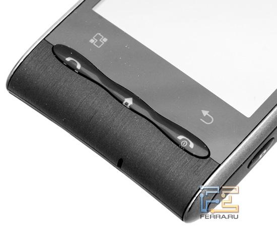 LG Optimus – расположение управляющих элементов на передней панели