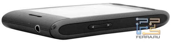 LG Optimus – расположение регулятора громкости и аудиоразъема