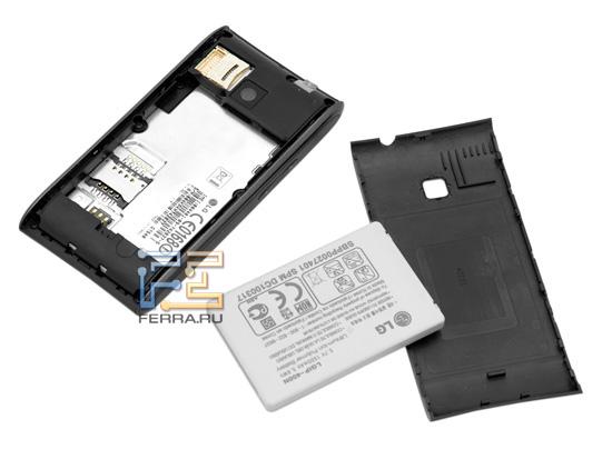 LG Optimus – батарея и задняя крышка