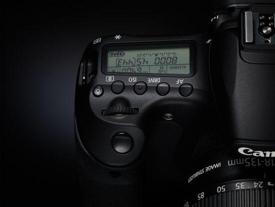 Органы управления в верхней правой части корпуса Canon EOS 60D