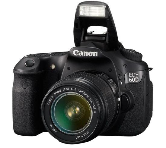 Встроенная вспышка Canon EOS 60D в рабочем положении