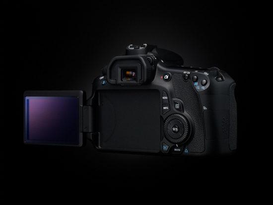 Canon EOS 60D - под экраном ничего нет