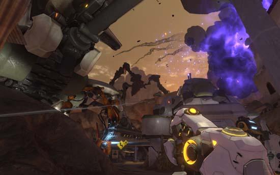 В спецэффектах в Firefall недостатка нет