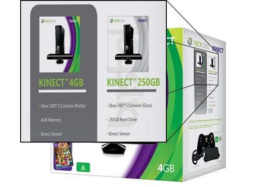 250 Gb Xbox 360 Kinect Bundle – Более дорогая Xbox 360 будет глянцевой, а не матовой, как 4-гигабайтная модель