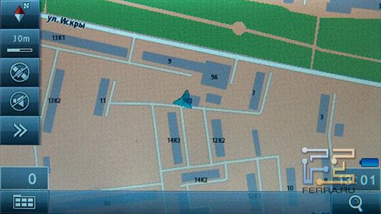 Так выглядит карта на LEXAND ST-560 в двухмерном режиме