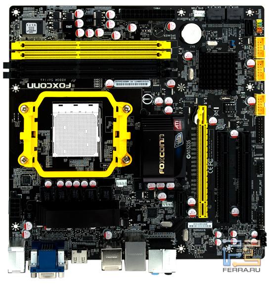 Foxconn A88GM Deluxe: вид сверху