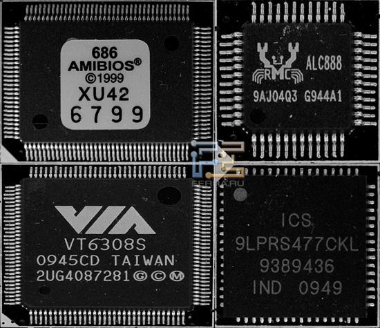 Набор чипов на плате A9DA-S