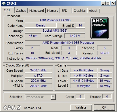 Скриншот программы CPU-Z на плате A88GM Deluxe
