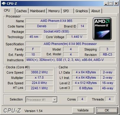 Результат разгона процессора на A9DA-S