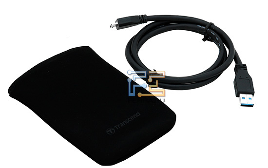 В комплекте - метровый USB-кабель c коннекторами miniUSB 3.0 и обычным USB 3.0 (его центральный