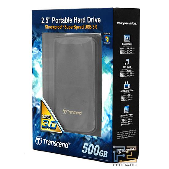Среди надписей на коробке c Transcend StoreJet 25D3 упоминается и защита от вибраций