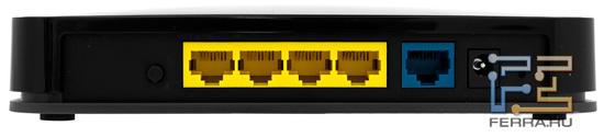 NetGear Wireless-N300 JWNR2000, вид сзади