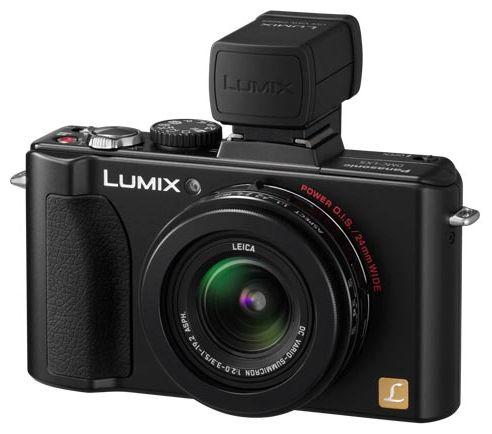 Lumix LX-5 и электронный видоискатель (приобретается отдельно)