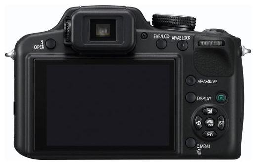 Lumix FZ45 - вид сзади: экран и аппаратные кнопки