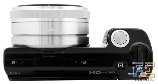 Компактные габариты Sony NEX 5 не испортили эргономику – есть ручка с качественным текстурированным покрытием