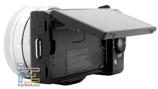 Sony NEX 5 унаследовала наклонный дисплей от зеркальных камер серии Alpha
