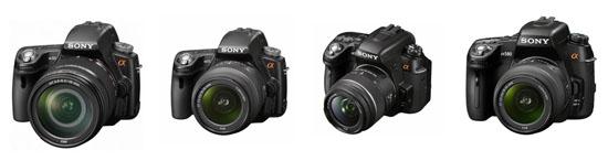 Новые зеркальные камеры Sony Alpha A33, A55, A560 и A580