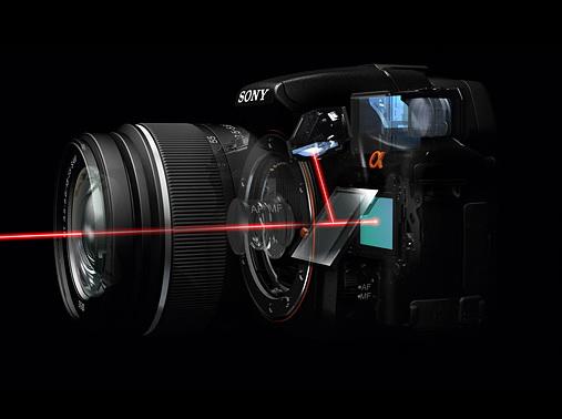 Конструкция Sony Alpha A55 и A33 изнутри выглядит так, как это показано на картинке