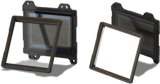 В конструкции фотоаппаратов Sony Alpha A33 и A55 обычное зеркало заменено полупрозрачным
