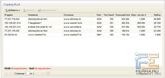 Подключение к серверам eDonkey в Synology DS410j