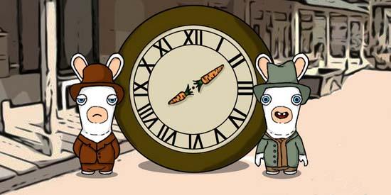 Кролики в Raving Rabbids могут быть серьезными только на протяжении нескольких секунд. После чего следует всем известное «Аа-а-аа-а-а!!!»