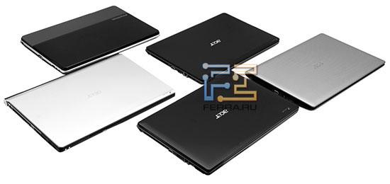 Все вместе: eMachines E730G, Acer Aspire 5741G, 5745G, TimelineX 5820TG, 5943G