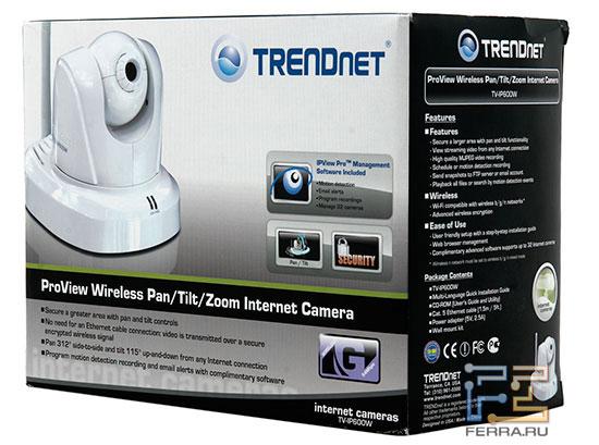 Проводная TV-IP600 отличается от изображенной на коробке Wi-Fi-версии только отсутствием антенны