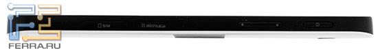 Samsung Galaxy Tab: вид справа