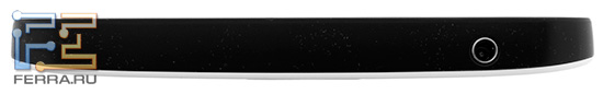 Samsung Galaxy Tab: вид сверху