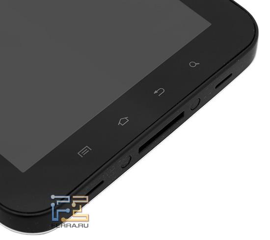 Samsung Galaxy Tab: блок сенсорных клавиш