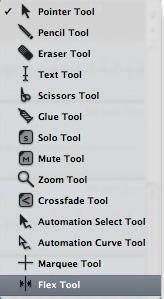 Выбор инструмента Flex