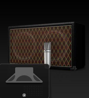 Выбор положения микрофона в Amp Designer
