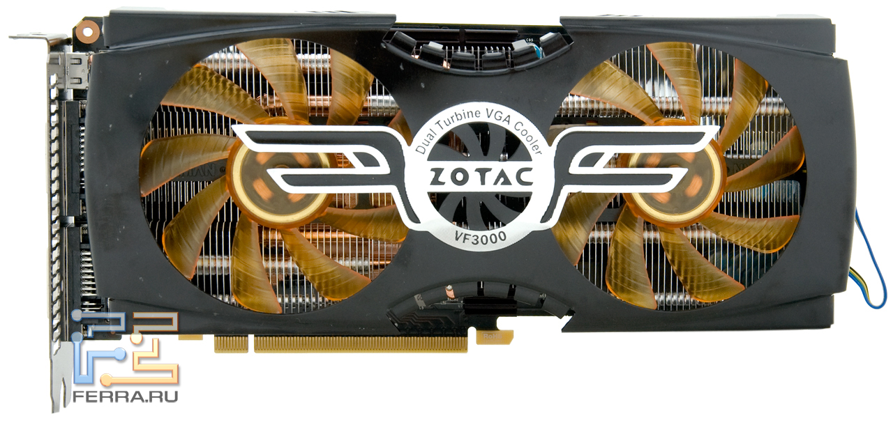 We did not remove the cooling system with a graphics card zotac gtx 480 amp