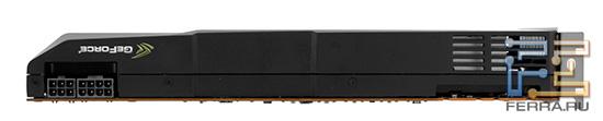 GTX 580, вид сверху