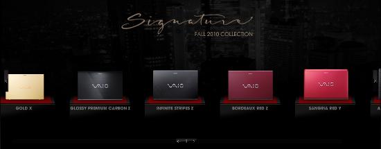 Sony VAIO Holiday 2010 Signature