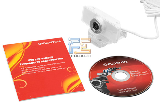Комплект поставки веб-камеры Floston B18