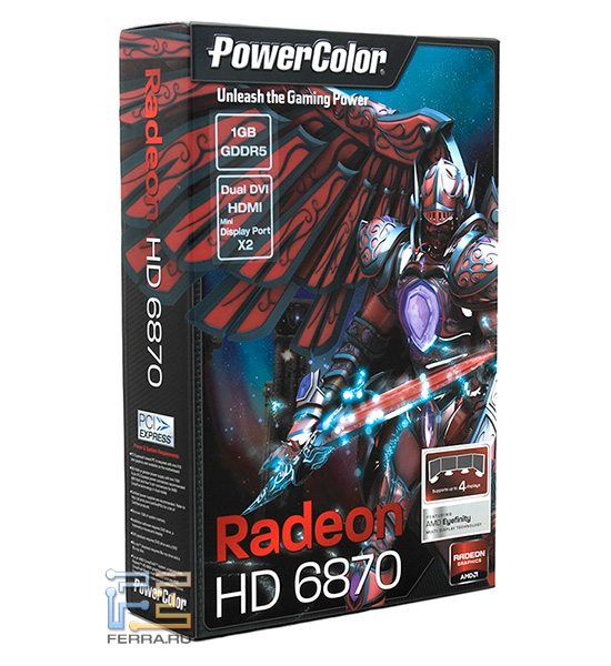 Упаковка Powercolor Radeon HD 6870