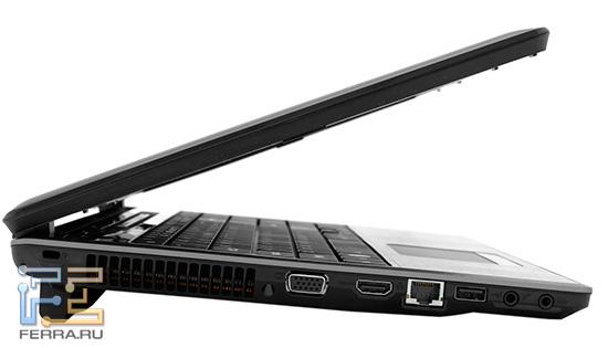 Acer Aspire 5745DG. Вид сбоку