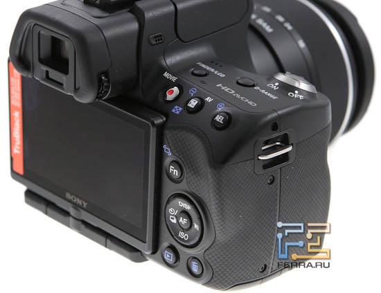 Основные органы управления Sony SLT-A33