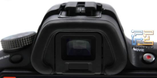Sony SLT-A33 - кнопка меню, видоискатель, кнопка старта видеозаписи