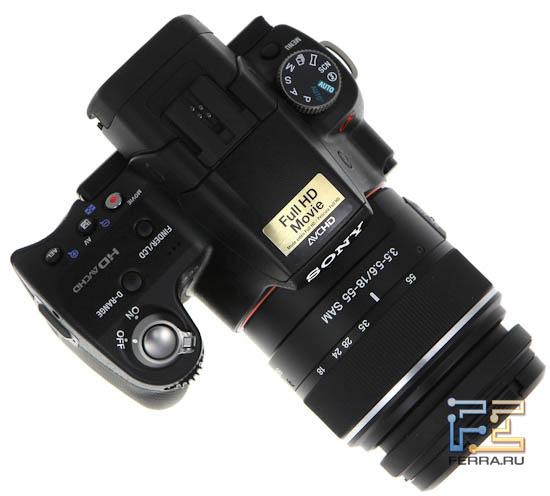 Sony SLT-A33 - внешность сверху